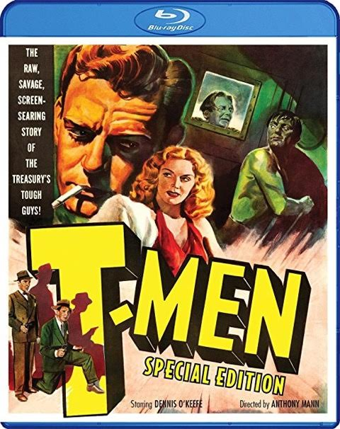 photo cover of Blu-ray Disc for T-Men featuring Dennis O'Keefe