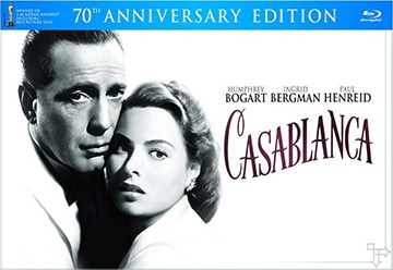 photo cover of Blu-ray Disc Casablanca 70th Anniversary featuring Humphrey Bogart and Ingrid Bergman