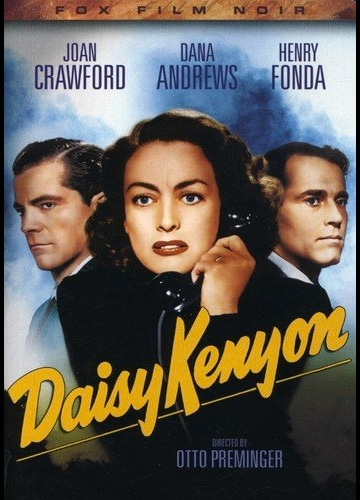 DVD cover art for Daisy Kenyon featuring Joan Crawford