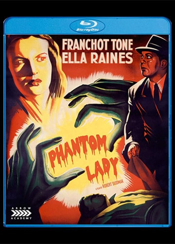 Blu-ray cover art illustrated Franchot Tone Ella Raines Phantom Lady