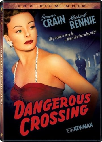 DVD cover art for film noir movie dangerous crossing with Jeanne Crain