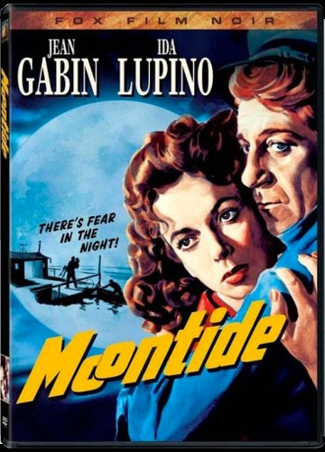 DVD cover art for Moontide featuring Jean Gabin and Ida Lupino