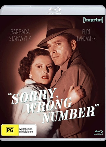 Blu-ray cover art for Sorry, Wrong Number